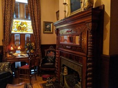 The smoking room.